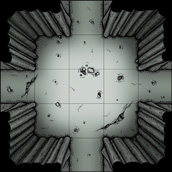 Cave battlemap tile